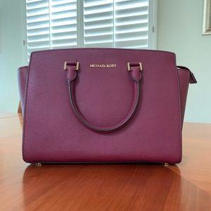 Michael Kors Burgundy Satchel Bag